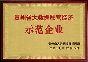 贵州省大数据联营经济示范企业